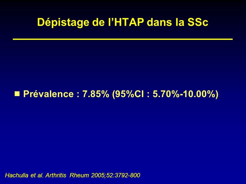 Dépistage de l'HTAP dans la SSc