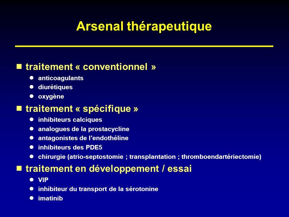 Arsenal thérapeutique