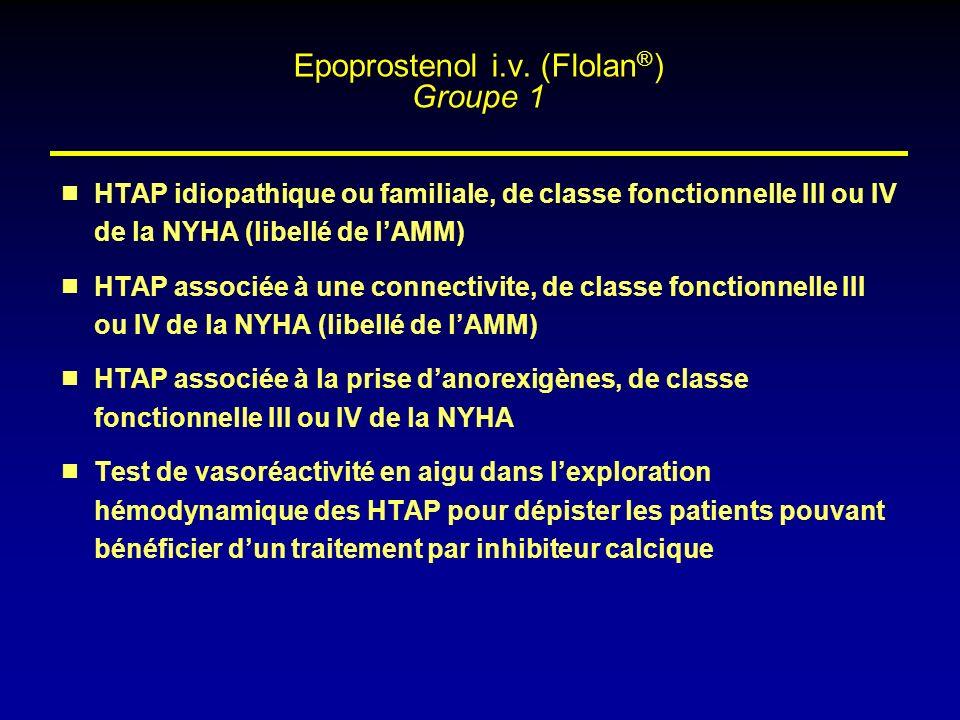 Epoprostenol i.v. (Flolan®) Groupe 1