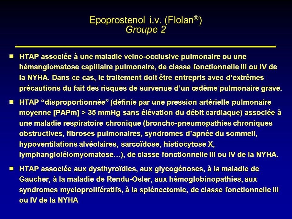 Epoprostenol i.v. (Flolan®) Groupe 2