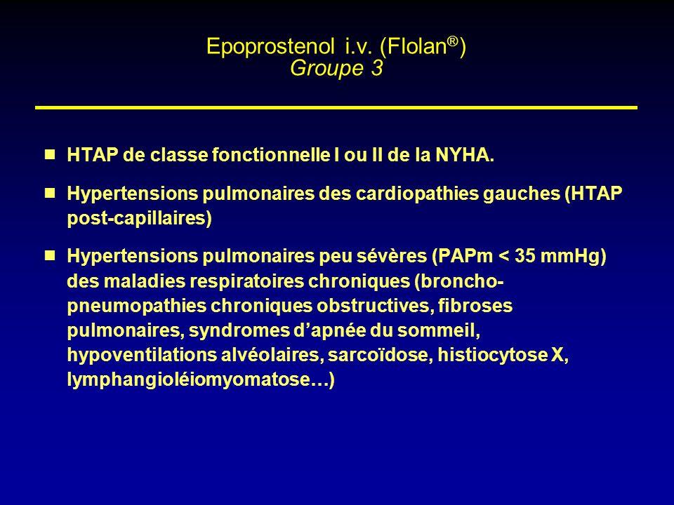 Epoprostenol i.v. (Flolan®) Groupe 3