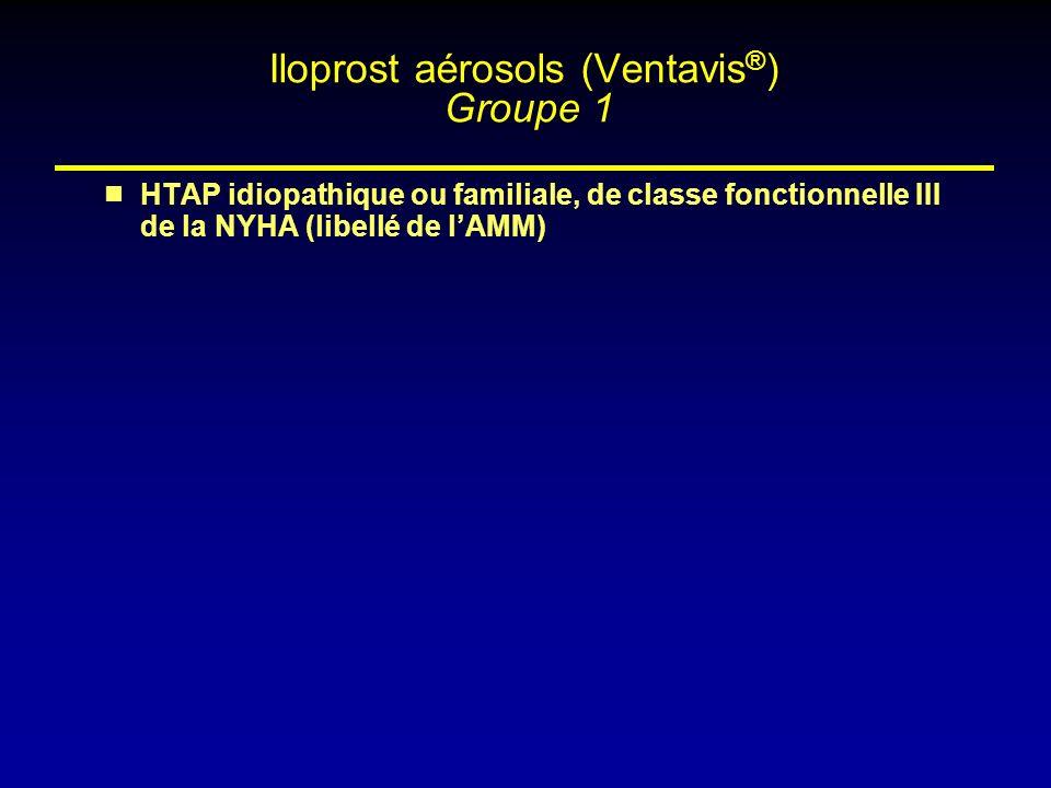 Iloprost aérosols (Ventavis®) Groupe 1