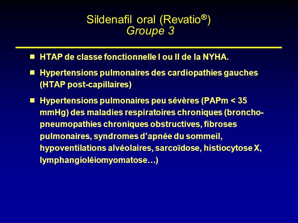 Sildenafil oral (Revatio®) Groupe 3
