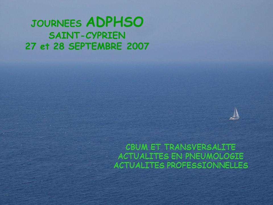 Adphso JOURNEES ADPHSO SAINT-CYPRIEN 27 et 28 SEPTEMBRE 2007