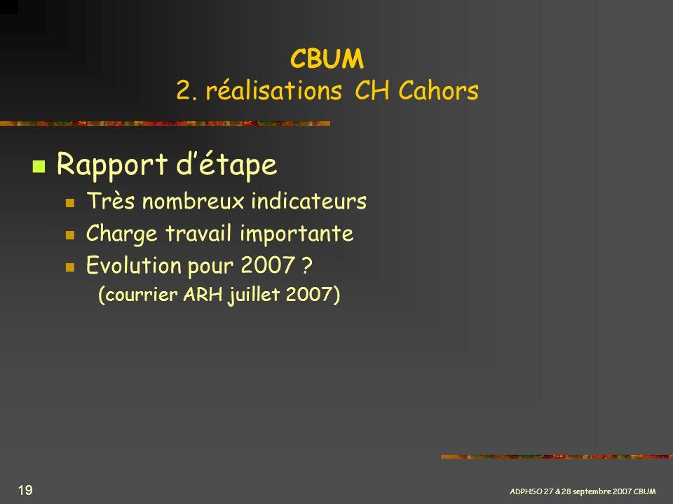 CBUM 2. réalisations CH Cahors