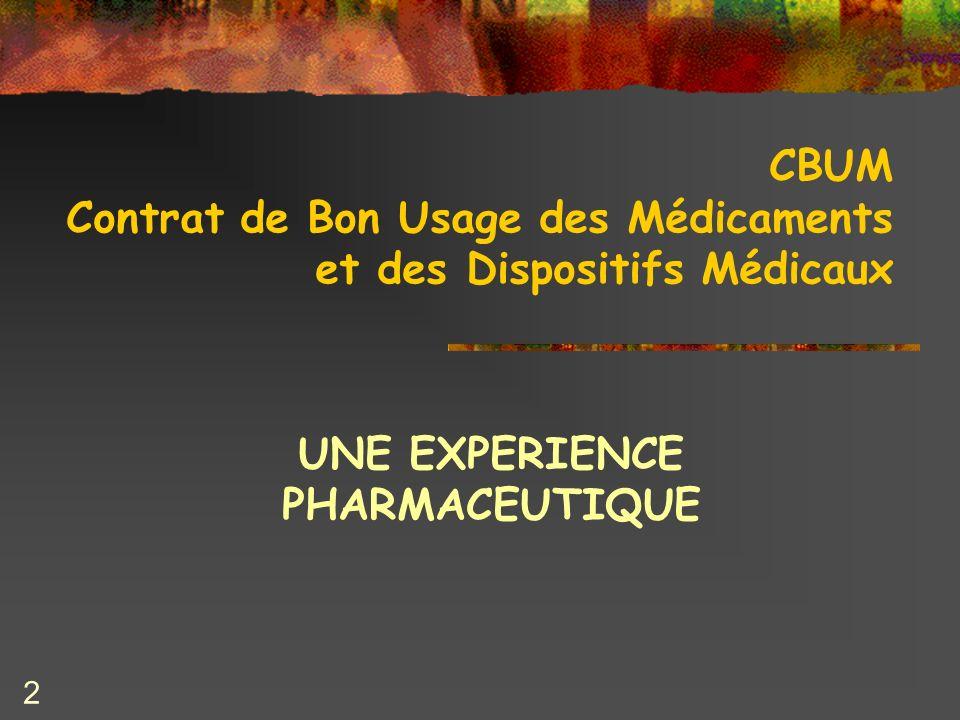 CBUM Contrat de Bon Usage des Médicaments et des Dispositifs Médicaux