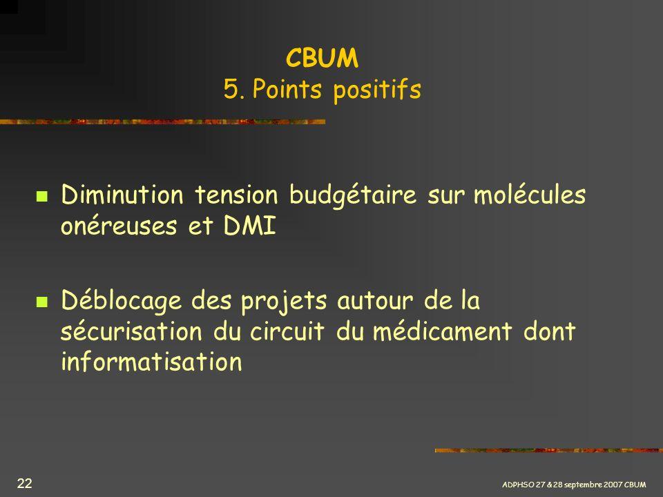 Diminution tension budgétaire sur molécules onéreuses et DMI