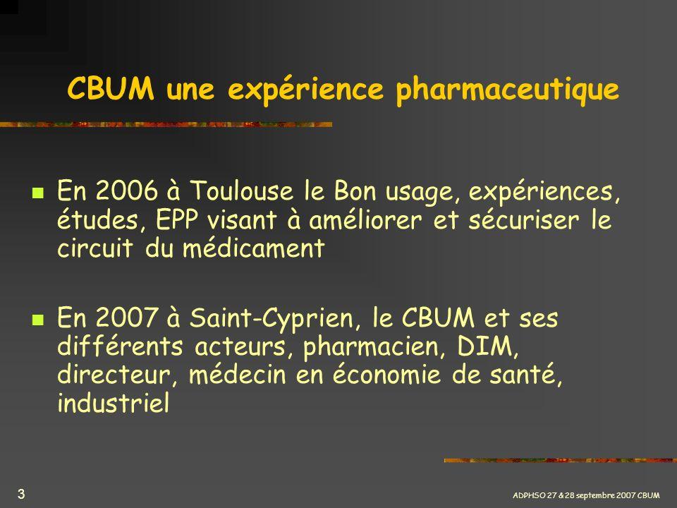 CBUM une expérience pharmaceutique