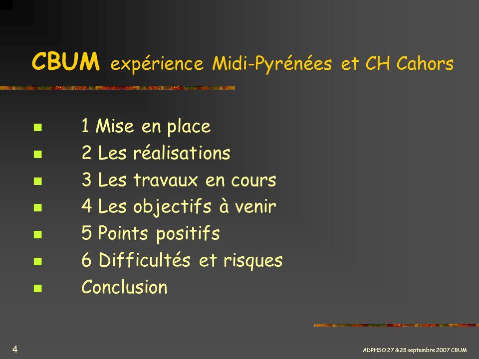CBUM expérience Midi-Pyrénées et CH Cahors