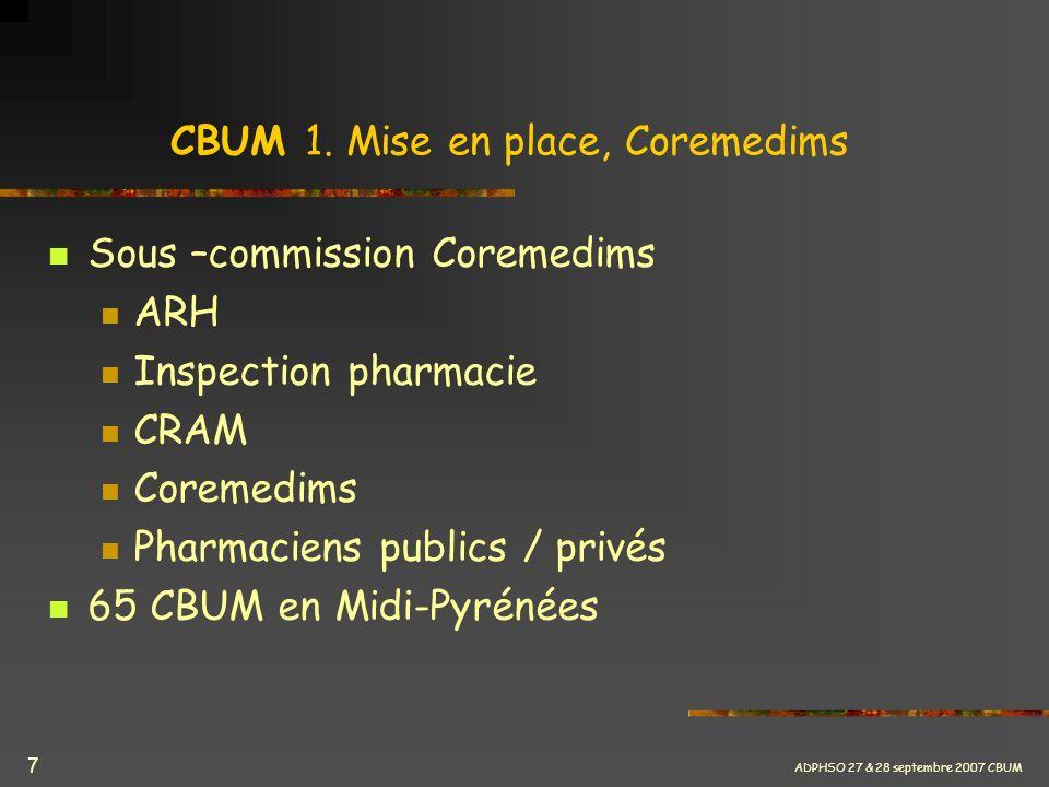 CBUM 1. Mise en place, Coremedims