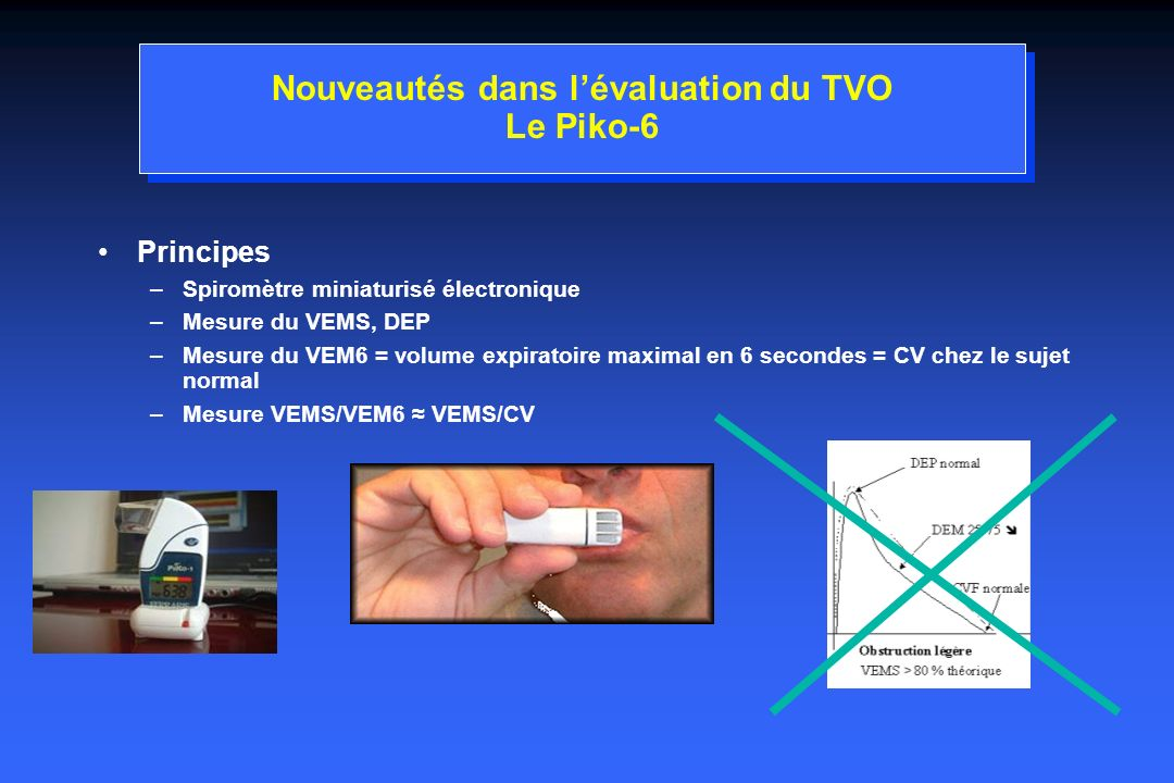 Nouveautés dans l'évaluation du TVO Le Piko-6