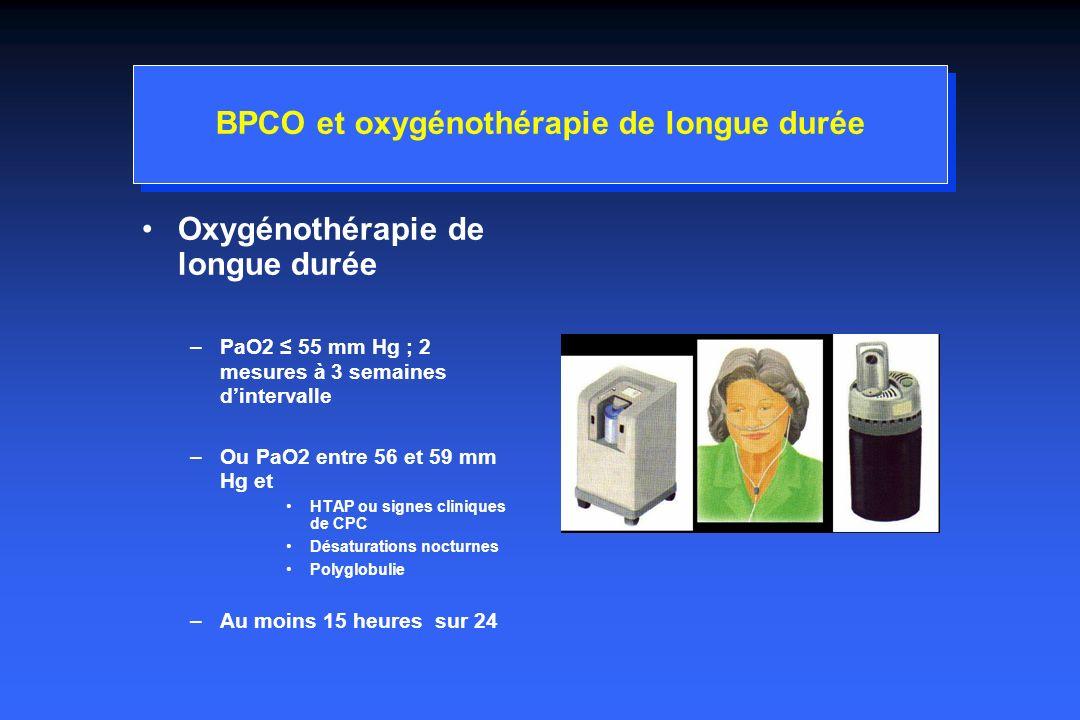 BPCO et oxygénothérapie de longue durée