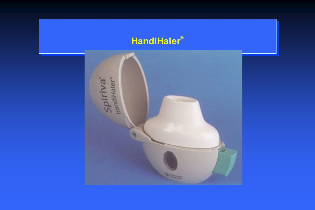 HandiHaler® Tiotropium is delivered via the HandiHaler, a dry-powder capsule-based delivery system.