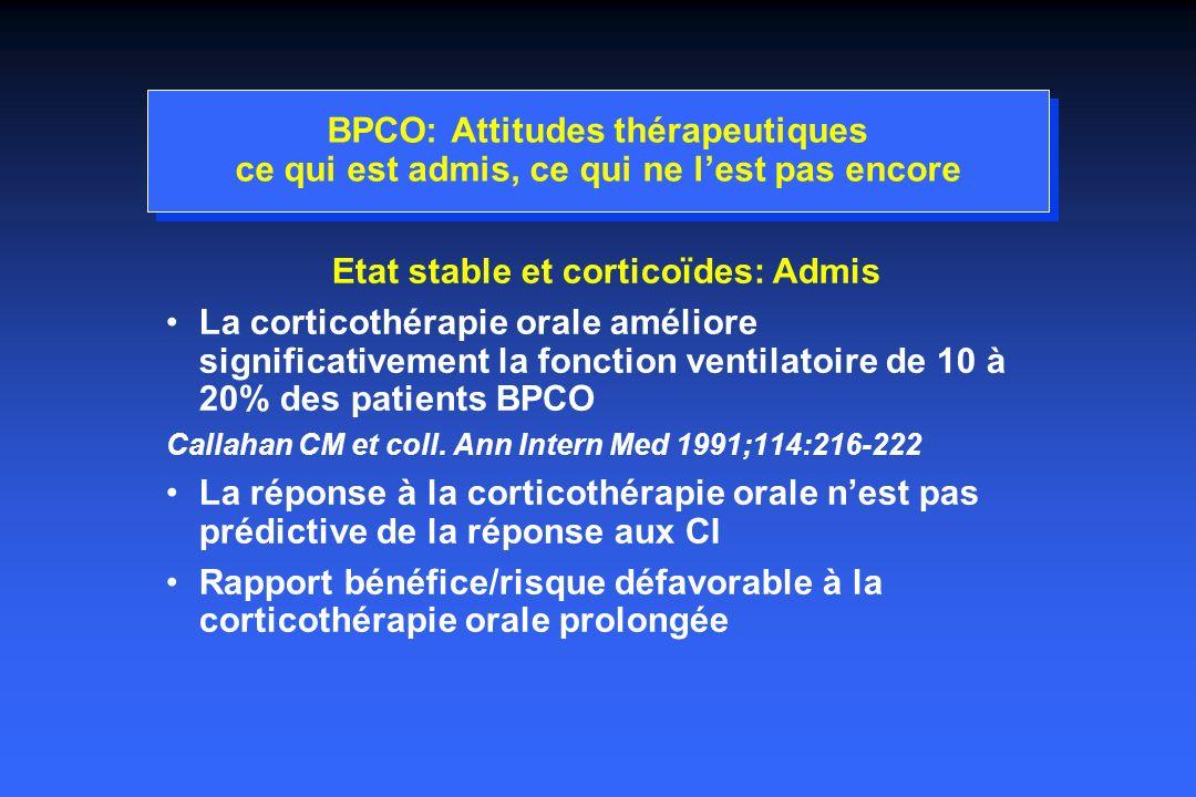 Etat stable et corticoïdes: Admis