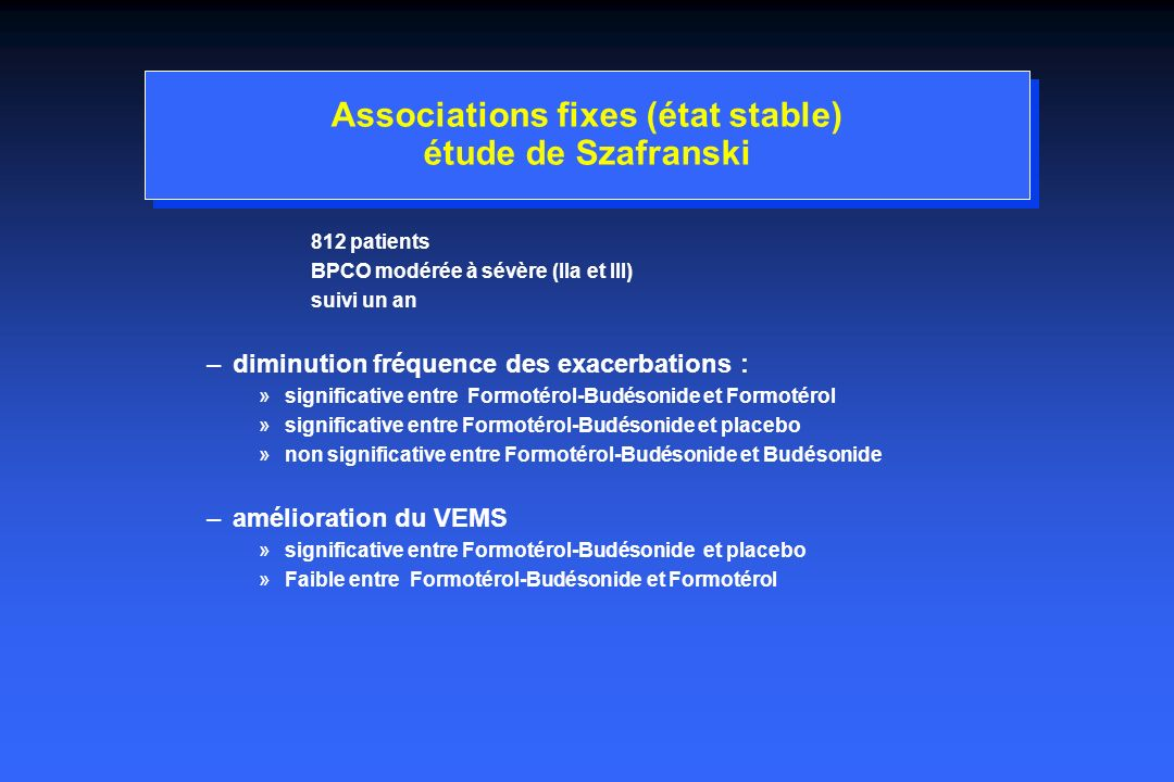 Associations fixes (état stable) étude de Szafranski