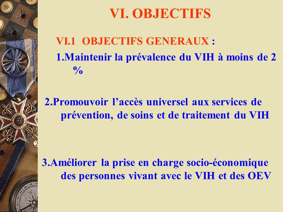 VI. OBJECTIFS VI.1 OBJECTIFS GENERAUX :