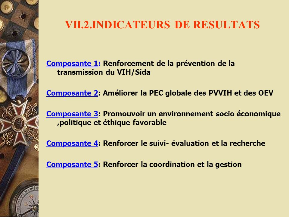 VII.2.INDICATEURS DE RESULTATS