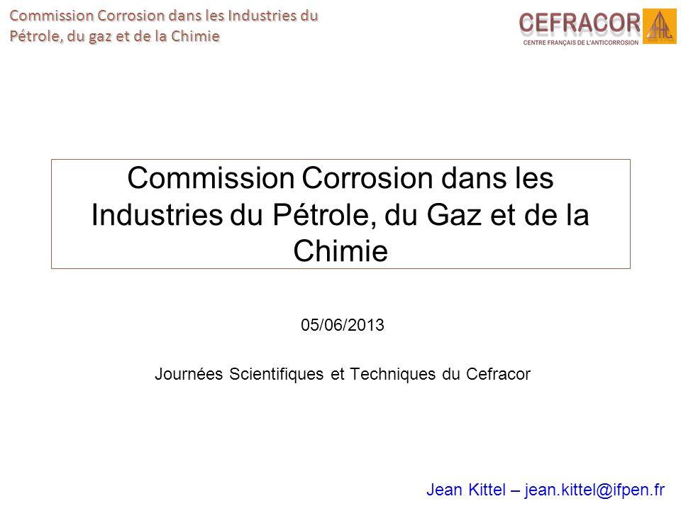 05/06/2013 Journées Scientifiques et Techniques du Cefracor