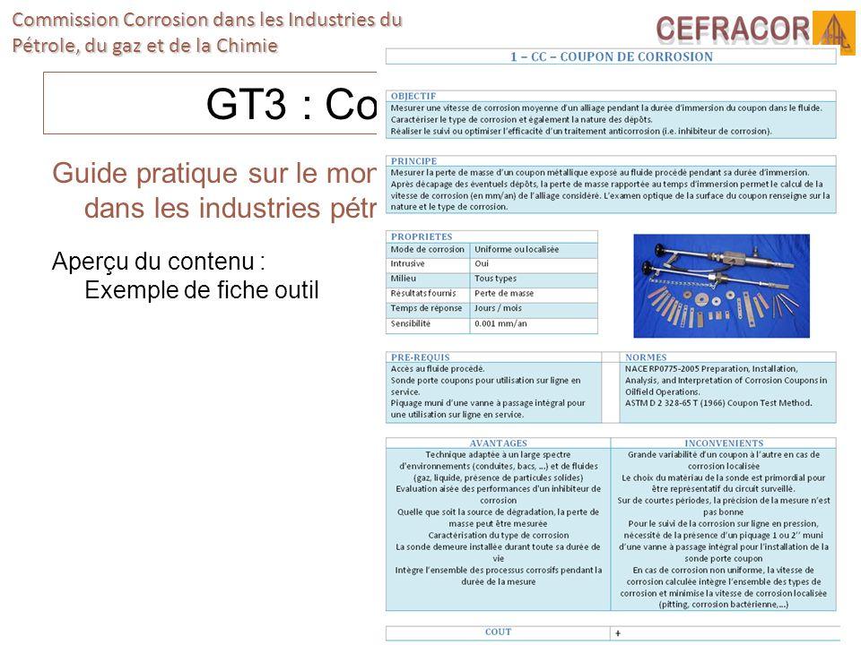 GT3 : Corrosion interneGuide pratique sur le monitoring de la corrosion interne dans les industries pétrolières et gazières.