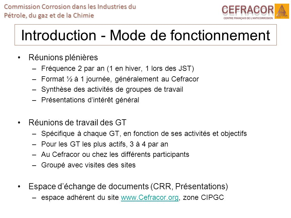 Introduction - Mode de fonctionnement