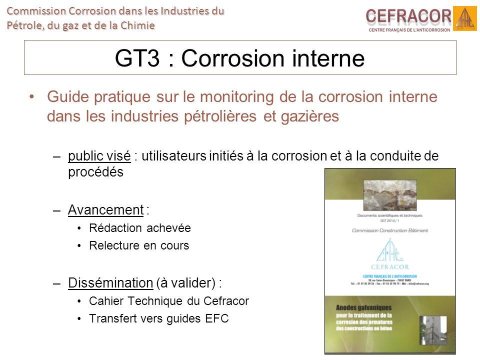 GT3 : Corrosion interne Guide pratique sur le monitoring de la corrosion interne dans les industries pétrolières et gazières.