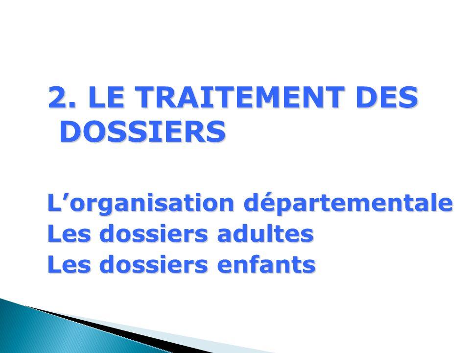 2. LE TRAITEMENT DES DOSSIERS