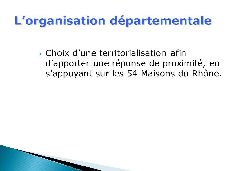L'organisation départementale