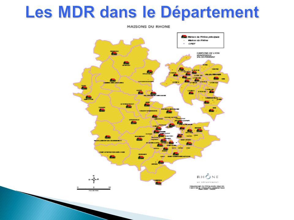 Les MDR dans le Département