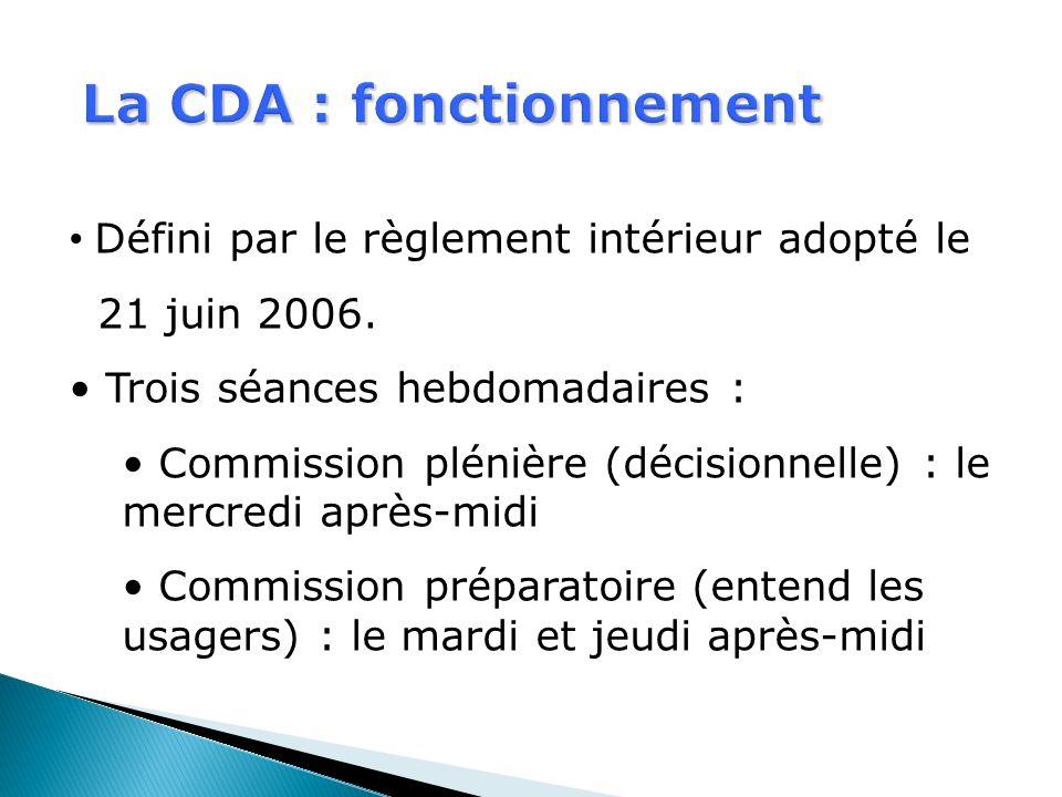 La CDA : fonctionnement