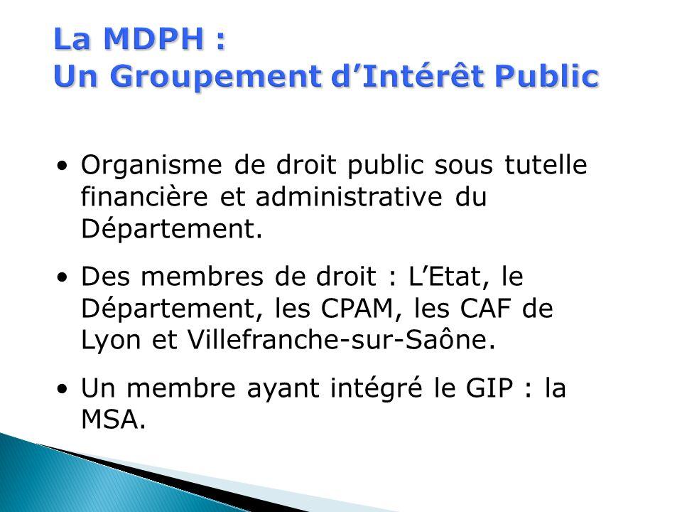La MDPH : Un Groupement d'Intérêt Public