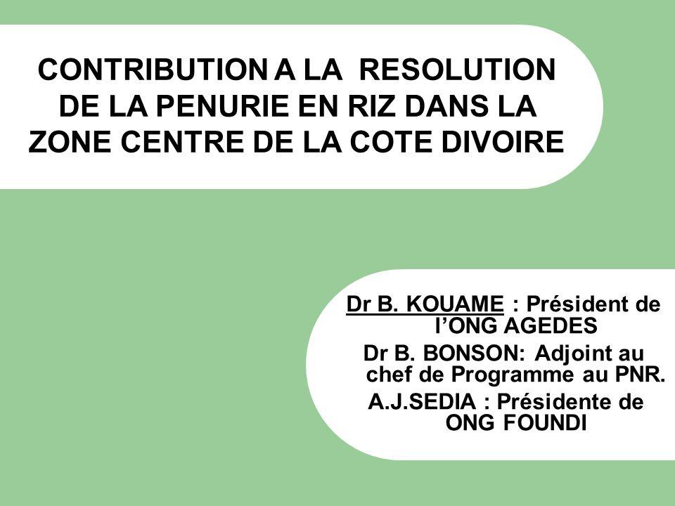 Dr B. KOUAME : Président de l'ONG AGEDES