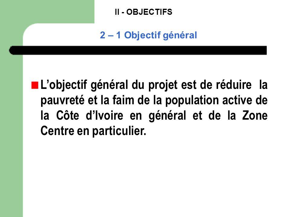 II - OBJECTIFS 2 – 1 Objectif général.