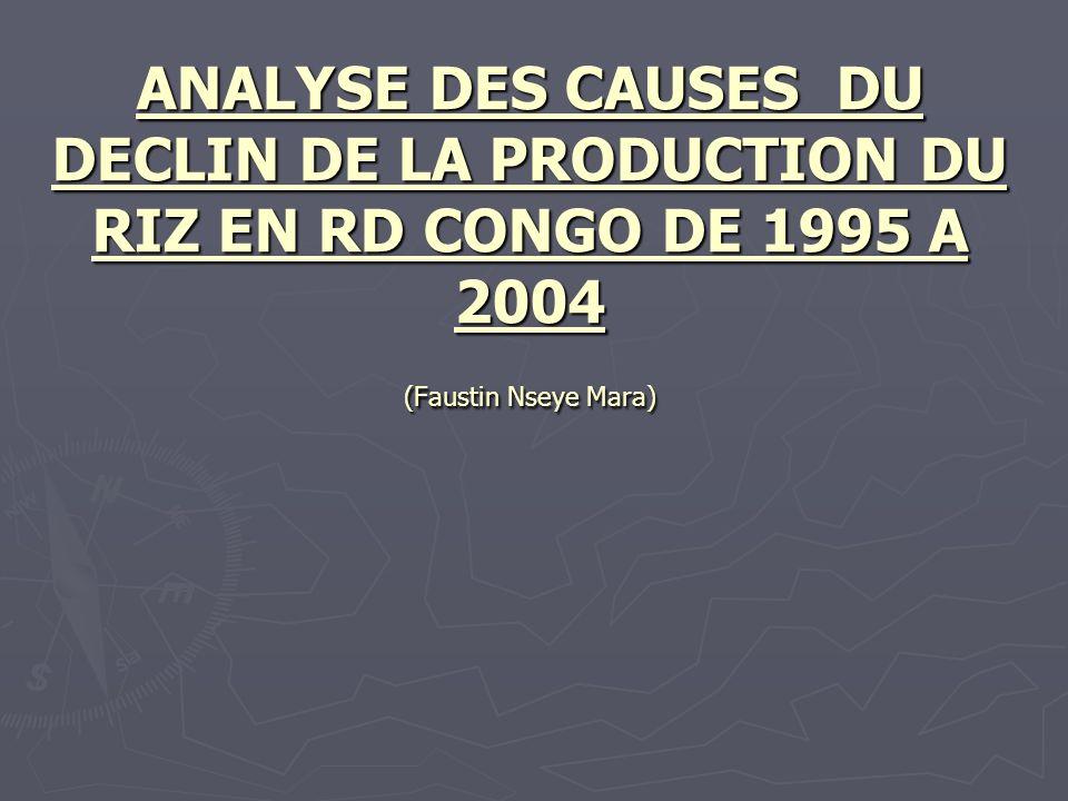 ANALYSE DES CAUSES DU DECLIN DE LA PRODUCTION DU RIZ EN RD CONGO DE 1995 A 2004 (Faustin Nseye Mara)