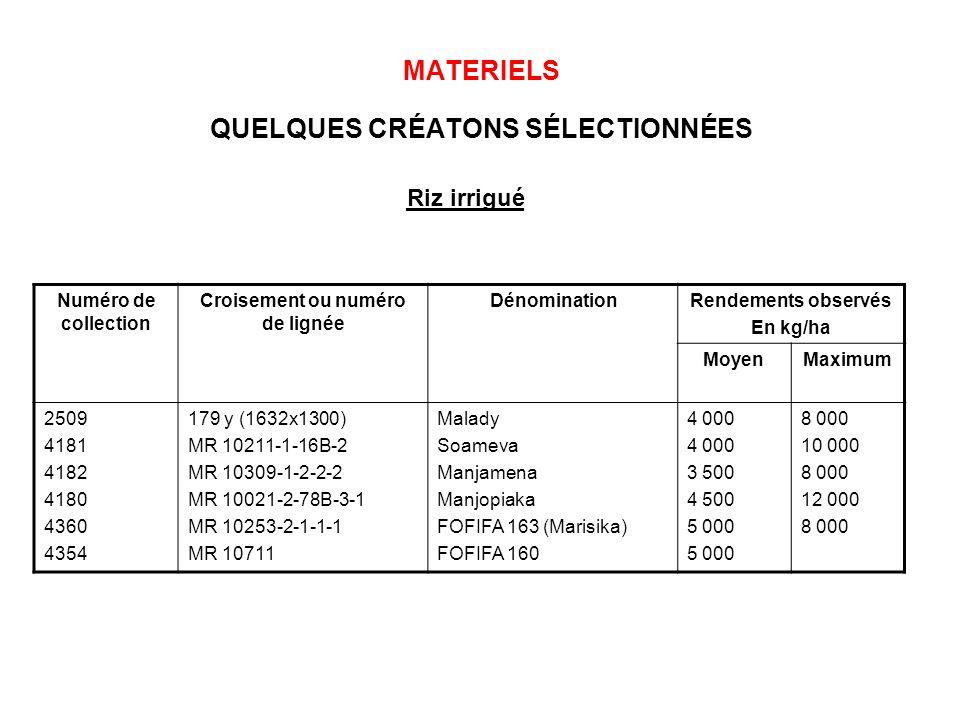 MATERIELS QUELQUES CRÉATONS SÉLECTIONNÉES
