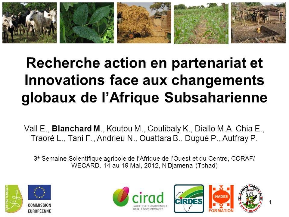 Recherche action en partenariat et Innovations face aux changements globaux de l'Afrique Subsaharienne