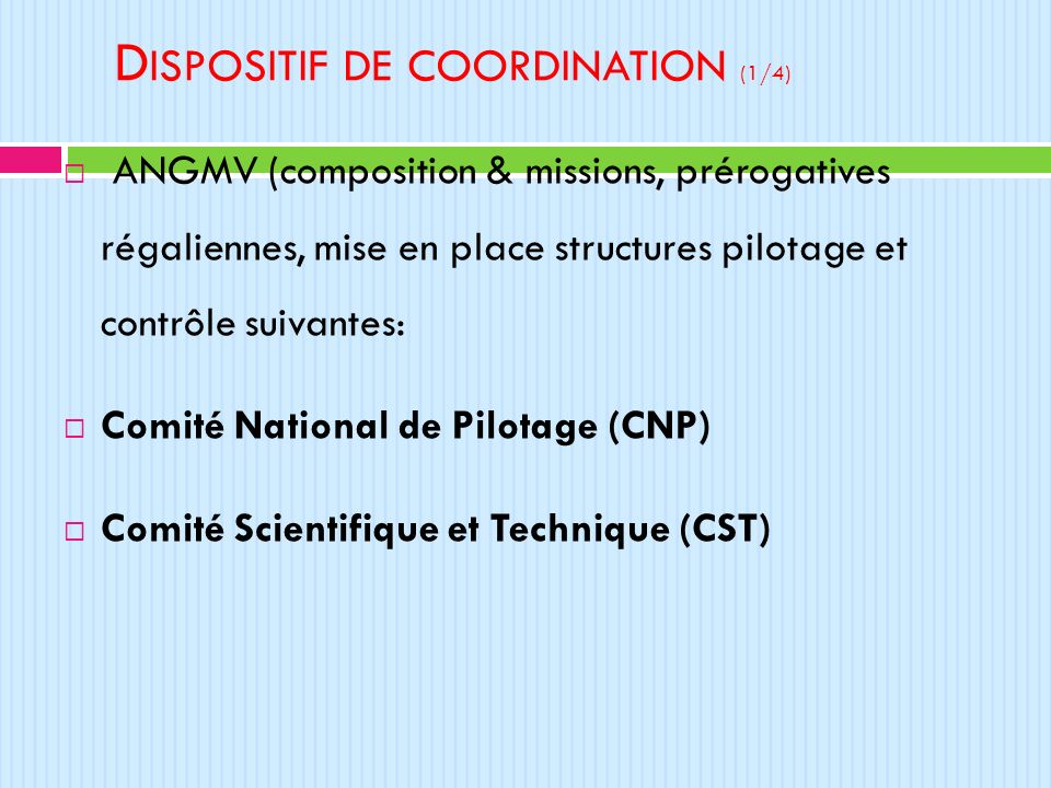 Dispositif de coordination (1/4)