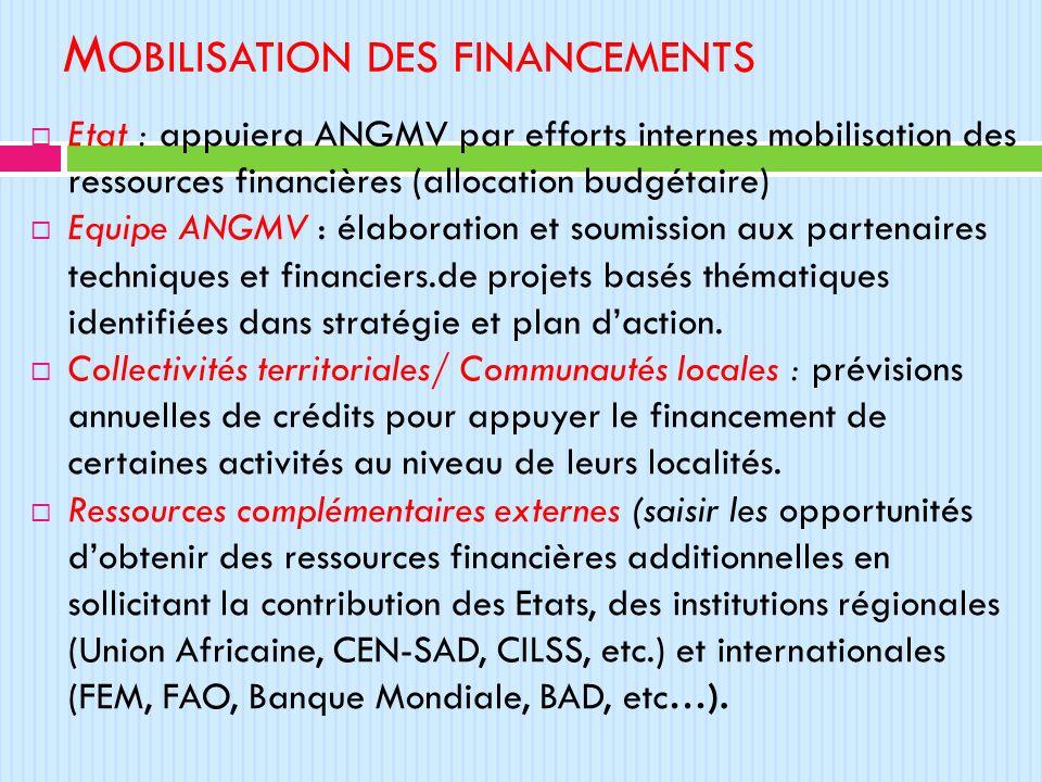 Mobilisation des financements