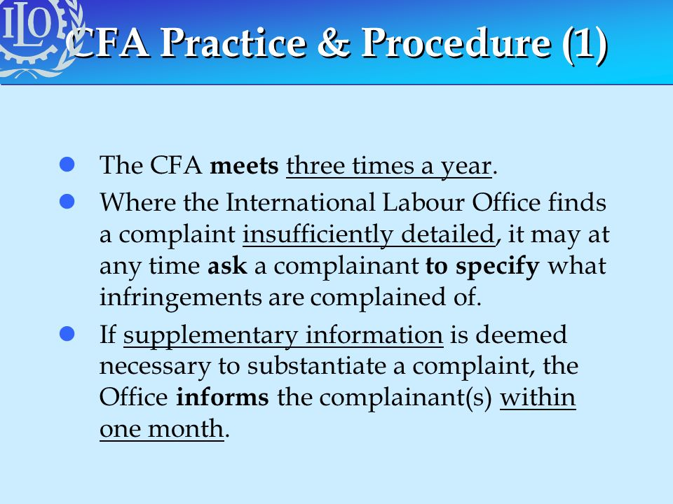 CFA Practice & Procedure (1)