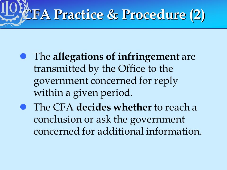 CFA Practice & Procedure (2)