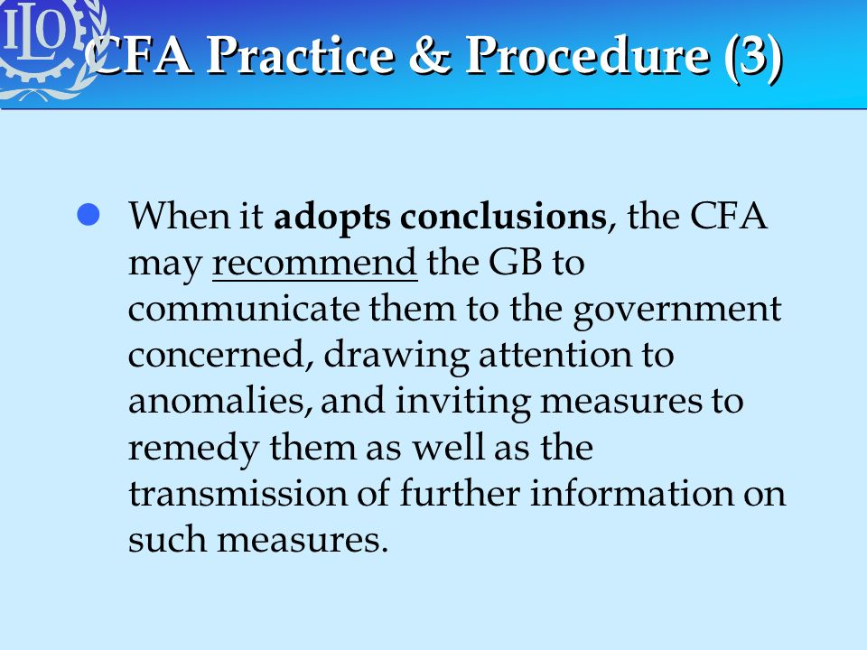 CFA Practice & Procedure (3)