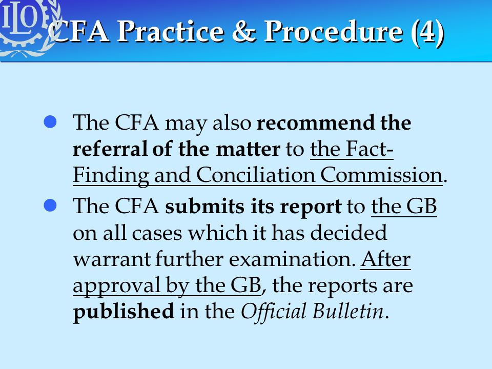 CFA Practice & Procedure (4)