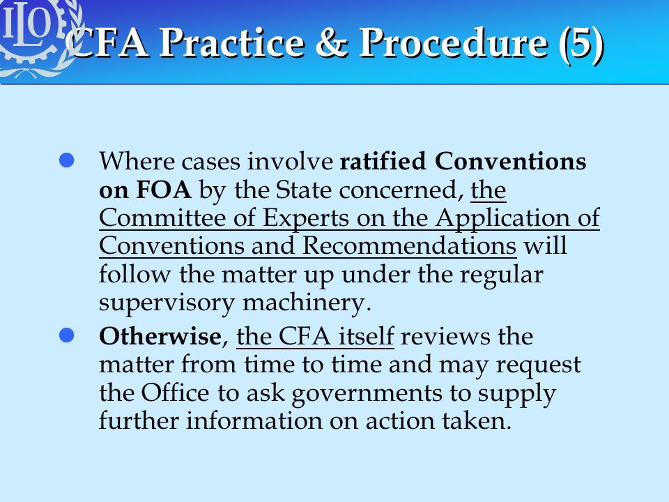 CFA Practice & Procedure (5)