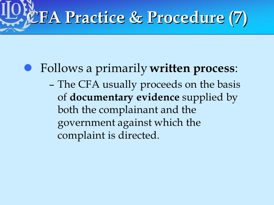 CFA Practice & Procedure (7)