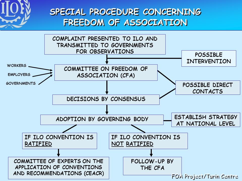 SPECIAL PROCEDURE CONCERNING FREEDOM OF ASSOCIATION