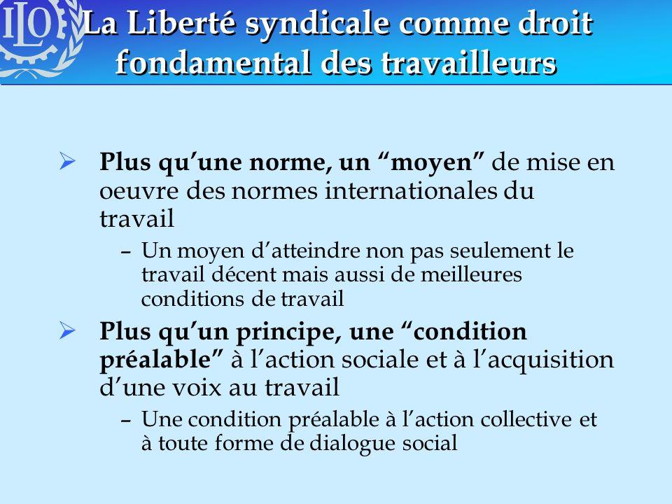 La Liberté syndicale comme droit fondamental des travailleurs
