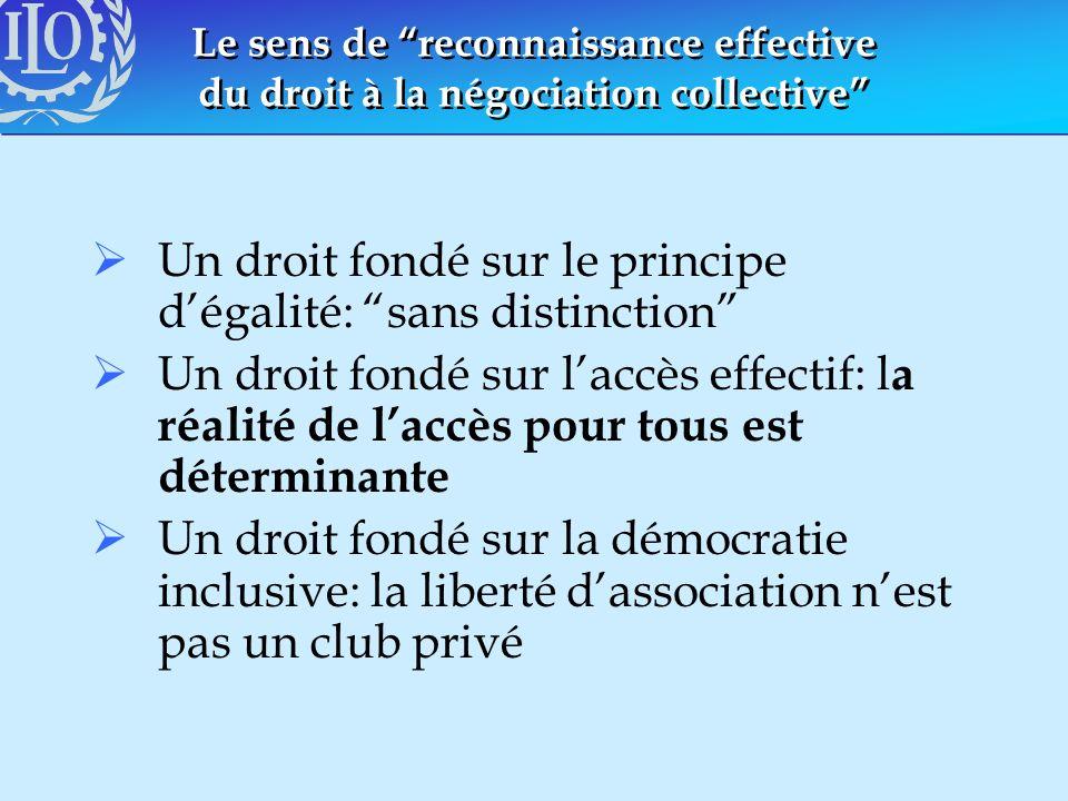 Un droit fondé sur le principe d'égalité: sans distinction