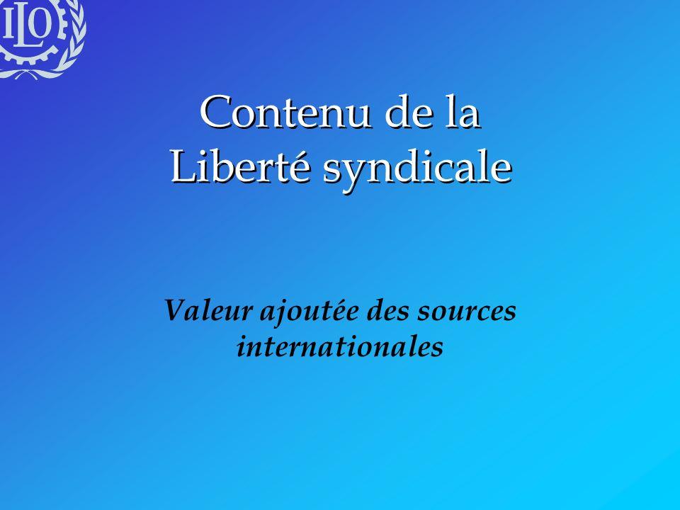 Contenu de la Liberté syndicale