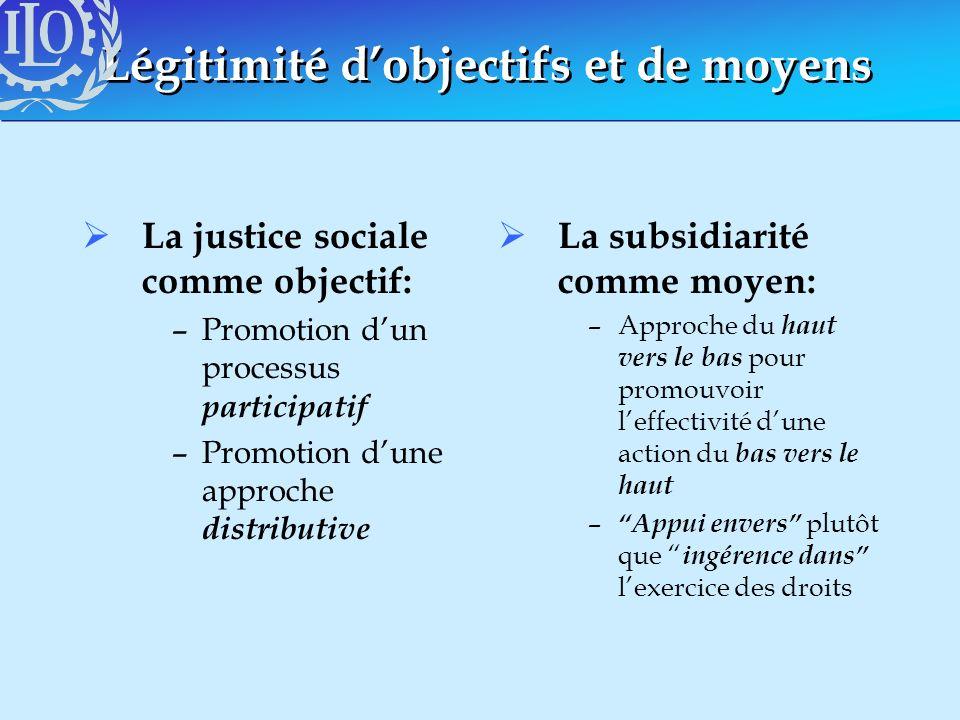 Légitimité d'objectifs et de moyens