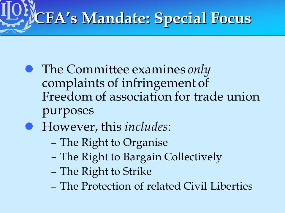 CFA's Mandate: Special Focus