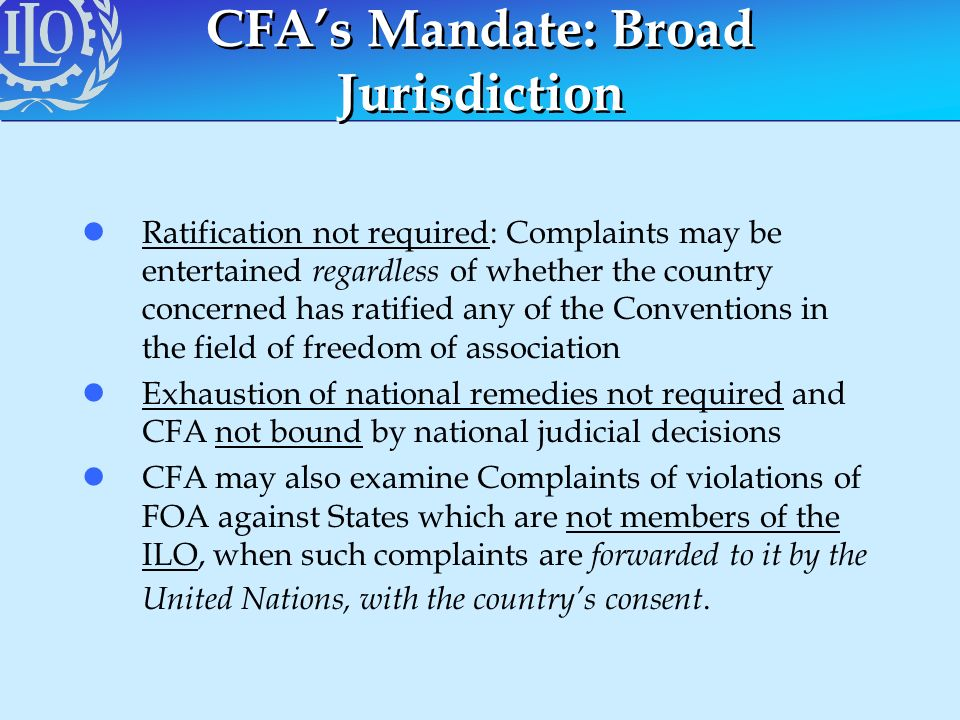 CFA's Mandate: Broad Jurisdiction